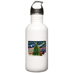 XmasMagic/2 Dachshunds (P2) Stainless Water Bottle