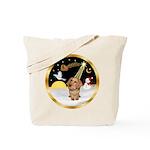 Night Flight/Dachshund #11 Tote Bag