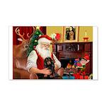 Santa's Dachshund (LH-B) 22x14 Wall Peel