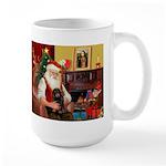 Santa's Dachshund (LH-B) Large Mug