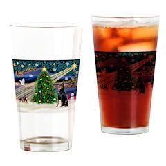 XmasMagic/Dobie (1) Drinking Glass