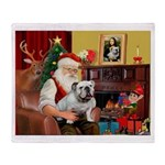 Santa's white EBD Throw Blanket