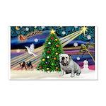 Xmas Magic & Bulldog 22x14 Wall Peel