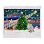 XmasMagic/English Setter Throw Blanket
