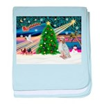 XmasMagic/English Setter baby blanket