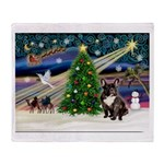 XmasMagic/French BD (br) Throw Blanket