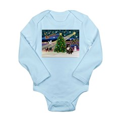 XmasMagic/French BD (br) Long Sleeve Infant Bodysu