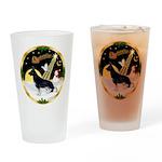 NightFlight-German Shep3 Drinking Glass