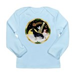 NightFlight-German Shep3 Long Sleeve Infant T-Shir