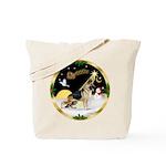 Night Flight/German Shepherd Tote Bag