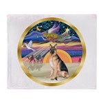 XmasStar/German Shepherd #11 Throw Blanket