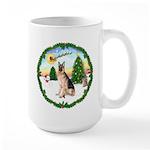 Take Off1/German Shepherd #11 Large Mug