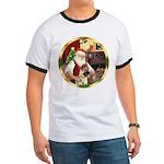 Santa's German Shepherd #13 Ringer T