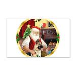 Santa's German Shepherd #13 22x14 Wall Peel