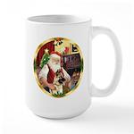 Santa's German Shepherd #13 Large Mug