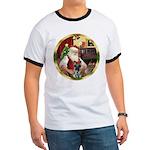 Santa's German Shepherd #12 Ringer T