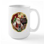 Santa's German Shepherd #12 Large Mug
