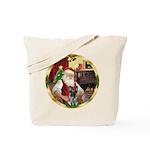 Santa's German Shepherd #12 Tote Bag