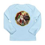 Santa's German Shepherd #12 Long Sleeve Infant T-S