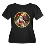 Santa's German Shepherd #11 Women's Plus Size Scoo