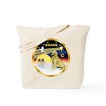 XmasDove/Golden #1B Tote Bag