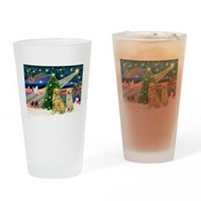Xmas Magic & Golden pair Drinking Glass