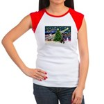 XmasMagic/Black Dane Women's Cap Sleeve T-Shirt