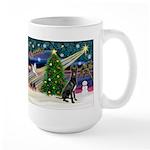 XmasMagic/Black Dane Large Mug