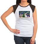 Santa's Great Pyrenees Women's Cap Sleeve T-Shirt