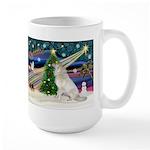Santa's Great Pyrenees Large Mug