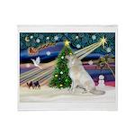 Santa's Great Pyrenees Throw Blanket