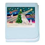 Santa's Great Pyrenees baby blanket