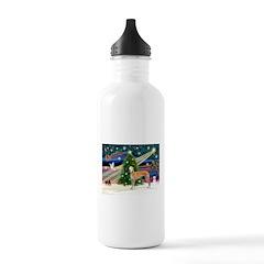 XmasMagic/Greyhound (rd) Water Bottle