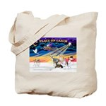 XmasSunrise/4 Ital Greyhounds Tote Bag