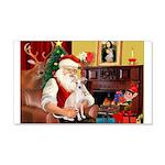 Santa's Ital Greyhound 22x14 Wall Peel