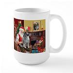 Santa/Keeshond Large Mug