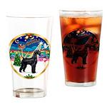 XmasMusic 2MC/Lab Pup (blk) Drinking Glass