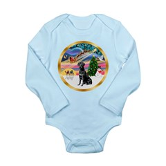 XmasMagic/Lab (black) Long Sleeve Infant Bodysuit