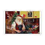 Santa's 2 Black Labs 22x14 Wall Peel