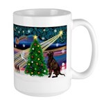 Xmas Magic & Choc Lab Large Mug