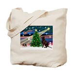 Xmas Magic & Choc Lab Tote Bag
