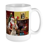 Santa's Yellow Lab #7 Large Mug