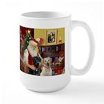 Santa's 2 Labs (Y+B) Large Mug