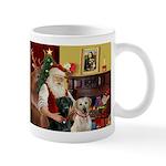 Santa's 2 Labs (Y+B) Mug