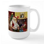 Santa's Maltese Large Mug