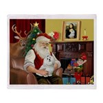Santa's Maltese Throw Blanket