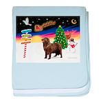 XmasSigns/Newfie baby blanket