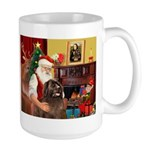 Santa's Newfoundland (br) Large Mug