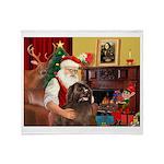 Santa's Newfoundland (br) Throw Blanket