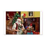 Santa/Norwegian Elkhound 22x14 Wall Peel